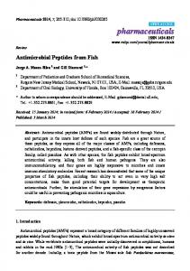 Antimicrobial Peptides from Fish - MDPI