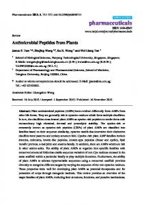 Antimicrobial Peptides from Plants - MDPI