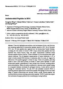 Antimicrobial Peptides in 2014 - MDPI