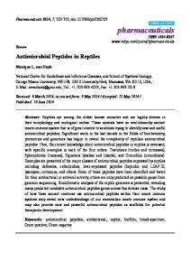 Antimicrobial Peptides in Reptiles - CiteSeerX