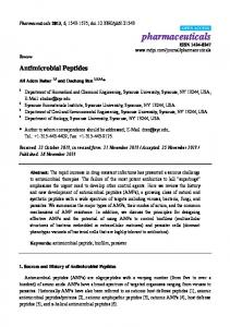 Antimicrobial Peptides - MDPI