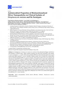 Antimicrobial Properties of Biofunctionalized Silver Nanoparticles on ...