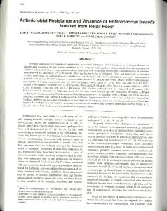 Antimicrobial Resistance and Virulence of ... - PubAg - USDA