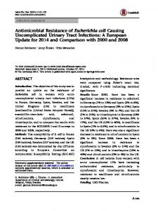 Antimicrobial Resistance of Escherichia coli ... - Semantic Scholar