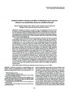 Antimicrobial resistance profiles of Staphylococcus aureus ... - SciELO