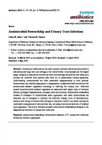 Antimicrobial Stewardship and Urinary Tract ... - Semantic Scholar