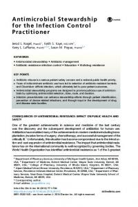 Antimicrobial Stewardship for the Infection Control Practitioner