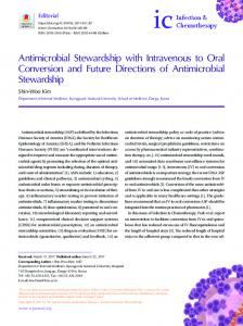 Antimicrobial Stewardship with Intravenous to Oral Conversion and ...