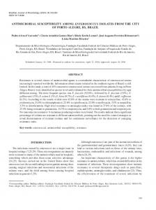 ANTIMICROBIAL SUSCEPTIBILITY AMONG ENTEROCOCCUS ...
