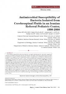 Antimicrobial Susceptibility of Bacteria Isolated from ... - Maedica