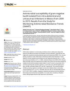 Antimicrobial susceptibility of gram-negative bacilli isolated ... - PLOS