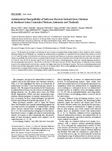Antimicrobial Susceptibility of Indicator Bacteria ... - BioMedSearch