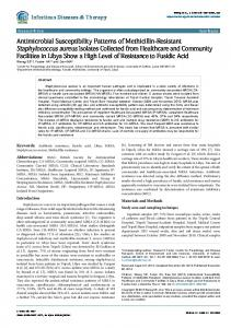 Antimicrobial Susceptibility Patterns of Methicillin-Resistant ...