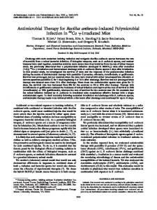 Antimicrobial Therapy for Bacillus anthracis-Induced Polymicrobial ...