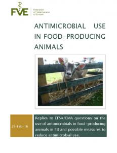 Antimicrobial use in food-producing animals - European Medicines ...