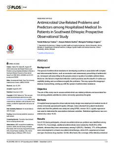 Antimicrobial Use-Related Problems and Predictors among
