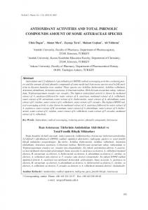 antioxidant activities and total phenolic compounds ... - CiteSeerX