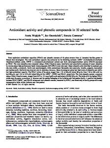 Antioxidant activity and phenolic compounds in 32