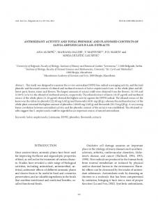 ANTIOXIDANT ACTIVITY AND TOTAL PHENOLIC AND FLAVONOID ...