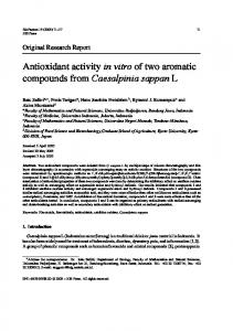 Antioxidant activity in vitro of two aromatic ... - Wiley Online Library