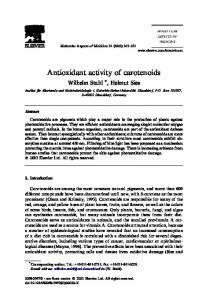 Antioxidant activity of carotenoids - Semantic Scholar