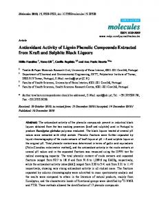 Antioxidant Activity of Lignin Phenolic Compounds