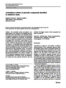 Antioxidant activity of phenolic compounds identified in ... - Core