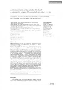 Antioxidant and antiapoptotic effects of ... - Semantic Scholar