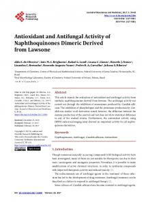 Antioxidant and Antifungal Activity of Naphthoquinones Dimeric ...