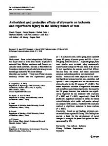 Antioxidant and protective effects of silymarin on ... - Springer Link