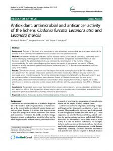 Antioxidant, antimicrobial and anticancer activity of ... - BioMedSearch