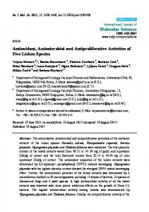 Antioxidant, Antimicrobial and Antiproliferative Activities of ... - CiteSeerX