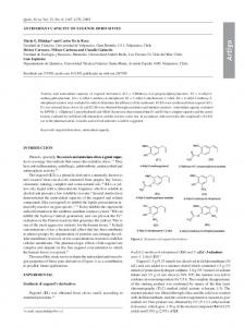Antioxidant capacity of eugenol derivatives