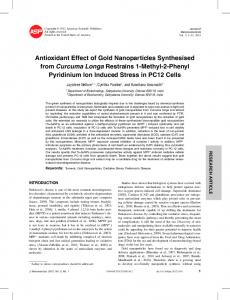 Antioxidant Effect of Gold Nanoparticles Synthesised ...