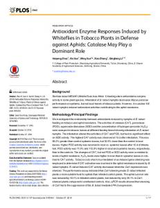Antioxidant Enzyme Responses Induced by