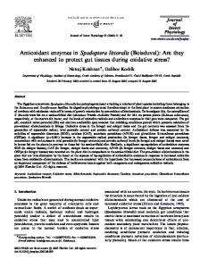 Antioxidant enzymes in Spodoptera littoralis