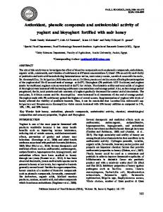 Antioxidant, phenolic compounds and antimicrobial activity of ... - PSFST