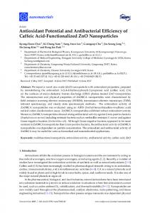 Antioxidant Potential and Antibacterial Efficiency of