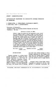 ANTIOXIDANT RESPONSE TO OXIDATIVE STRESS INDUCED BY ...