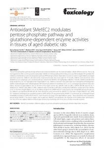 Antioxidant SMe1EC2 modulates pentose phosphate pathway and ...