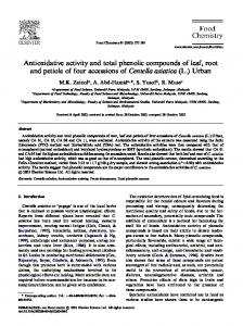 Antioxidative activity and total phenolic compounds of