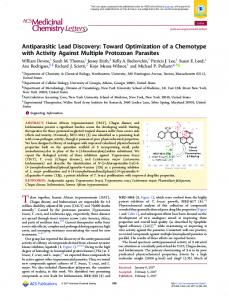 Antiparasitic Lead Discovery - ACS Publications - American Chemical ...