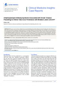 Antiphospholipid Antibody Syndrome Associated with Graves' Disease ...