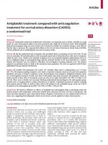 Antiplatelet treatment compared with anticoagulation treatment for ...