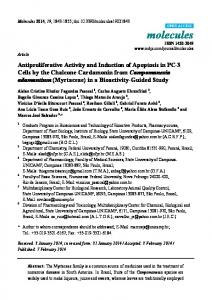 Antiproliferative Activity and Induction of Apoptosis in PC ... - CiteSeerX