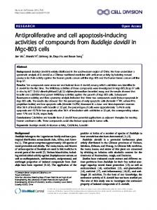 Antiproliferative and cell apoptosis-inducing activities ... - Springer Link