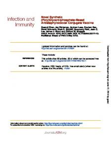 Antistaphylococcal Conjugate Vaccine (Poly ...