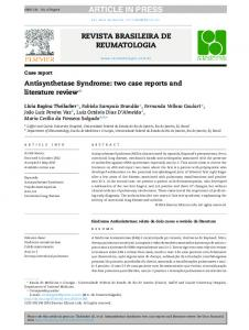 Antisynthetase Syndrome: two case reports and