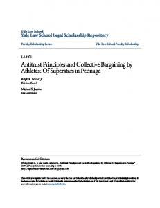 Antitrust Principles and Collective Bargaining by ...