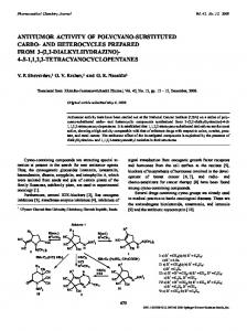 antitumor activity of polycyano-substituted carbo